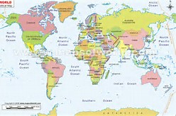 World Map with Country