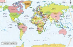 Printable World Map with Countries