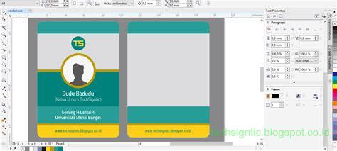 membuat id card doraemon tutorial membuat id card modern vertikal menggunakan
