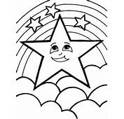 Star Coloring Pages Fish Night