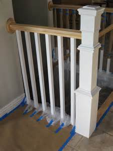 Banister Posts Remodelaholic Stair Banister Renovation Using Existing