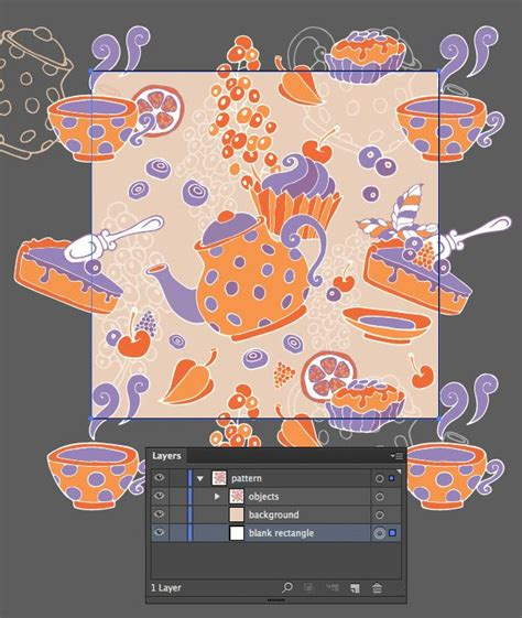 adobe illustrator zebra pattern create a tea party seamless pattern from a sketch in adobe