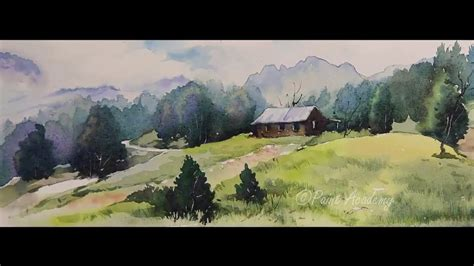 watercolor landscape tutorial youtube watercolor mountain landscape painting tutorial step by