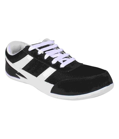 black running shoes for histeria black synthetic leather running sport shoes for