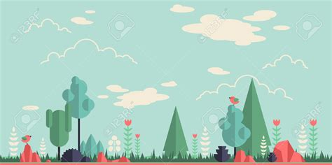 flat design wallpaper vector 40086874 summer forest flat background simple and cute