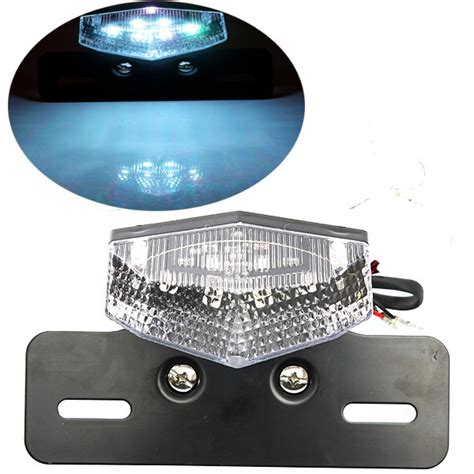 Motorcycle License Plate Light by Motorcycle Scooter License Plate Rear Brake Running