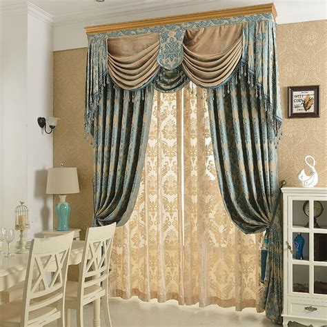 draped curtain new arrival chenille soft material jacquard embroidery