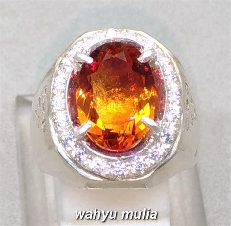 Cincin Citrin batu cincin permata golden citrine quartz asli kode 925
