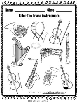 wind instruments coloring pages printable pages group woodwind instrument coloring pages