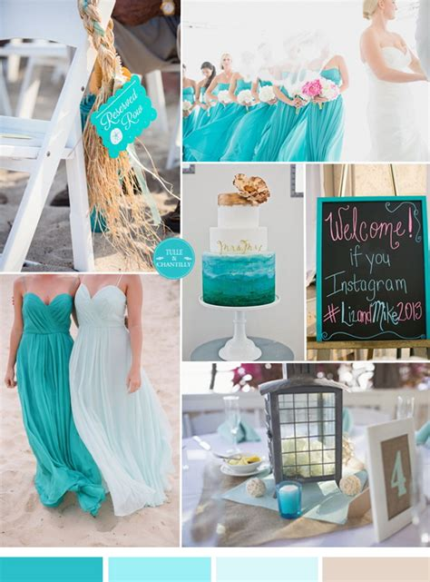 colour themes for beach wedding turquoise wedding color scheme for beach seaside wedding