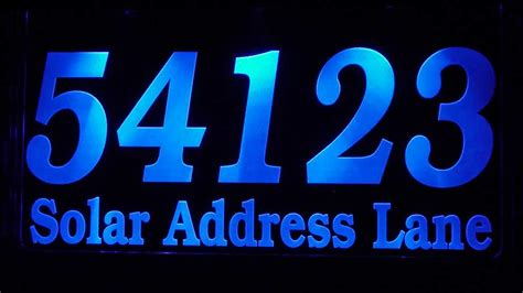 solar address sign prestige custom solar address plaque large