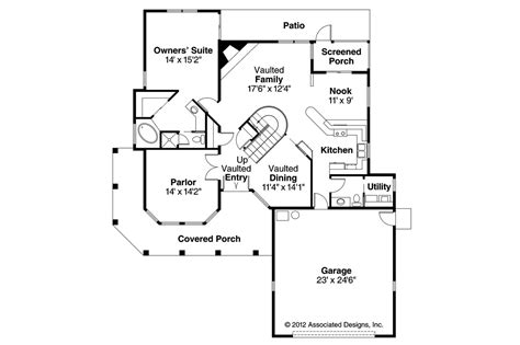 spanish floor plans spanish style house plans kendall 11 092 associated