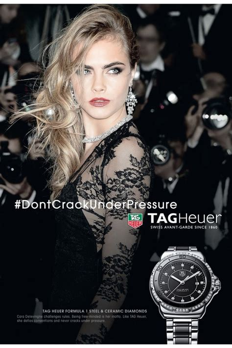 tag heuer ads cara delevingne stars in new tag heuer ads poses with a