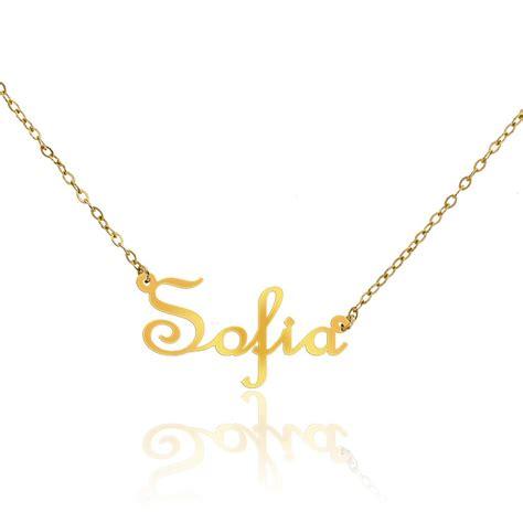 cadena de oro 18k con nombre precio collar de oro amarillo 18k nombre sof 237 a ocarat