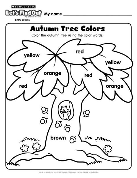 autumn coloring pages preschool an autumn tree coloring page from let s find out magazine