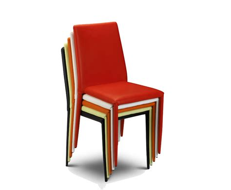 jazz white faux stacking dining chair uk delivery