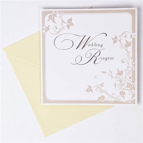 reply wedding invitation regret floral print wedding invite regret response card only 39p