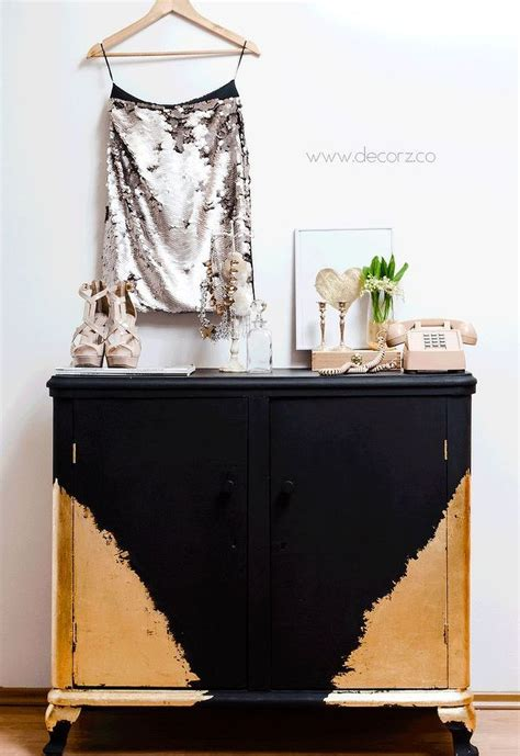 Black And Gold Dresser by How To Decorate A Dresser With Black And Gold Paint Hometalk