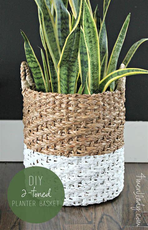 Basket Planter Diy 2 Toned Planter Basket
