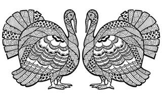 thanksgiving coloring pages for adults thanksgiving zentangle turkey by medvedeva