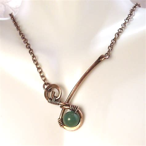 Handmade Copper Jewelry - jewelry wire wrapped handmade copper metal artisan pendant