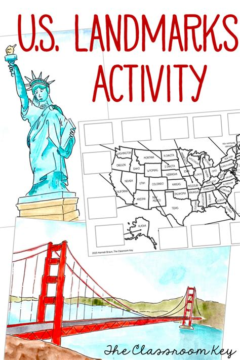 map of the united states landmarks united states us landmarks map activities summer school