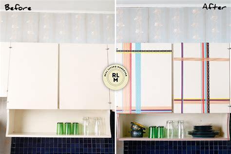 washi tape kitchen cabinets diy kitchen cabinets with washi tape d 233 cor rl