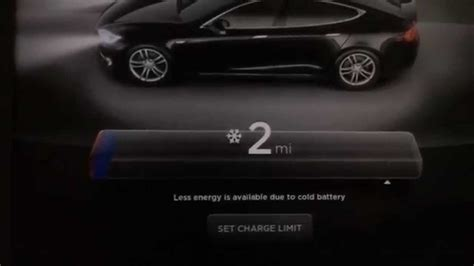 Tesla Model S Upgrade Battery Later Tesla Motors Model S Cold Battery Energy Limiter Bar