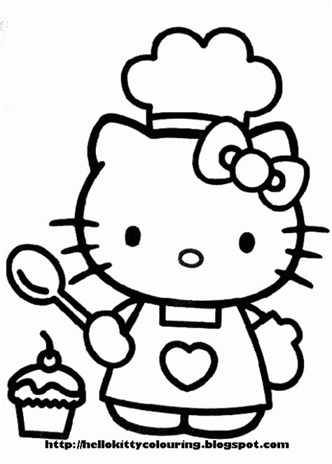 Hello Kitty Baking Coloring Pages | hello kitty coloring pages