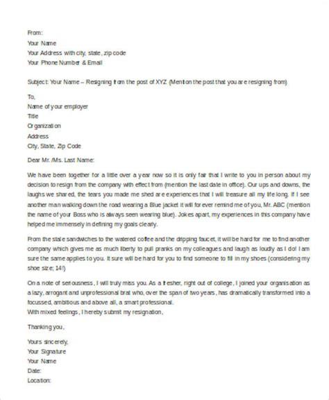 Resignation Letter Protocol Sle Resignation Letter 6 Exles In Pdf Word