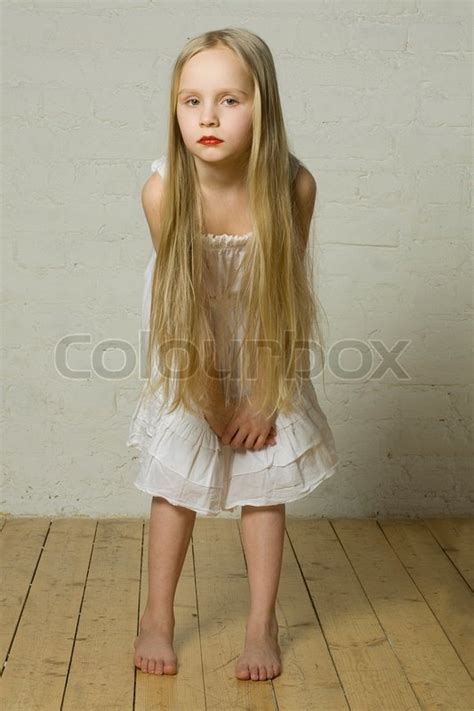 image pre nymphets teen girl fashion model with blond hair and red lips