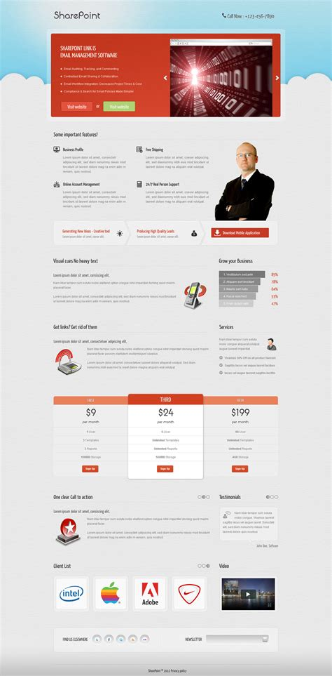 sharepoint landing page by owltemplates themeforest