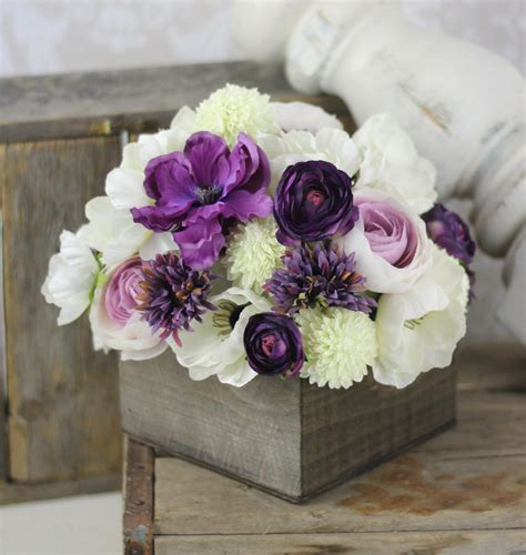 artificial flower centerpieces for wedding wedding centerpiece arrangement silk flowers rustic chic wedding decor 125 00 via etsy