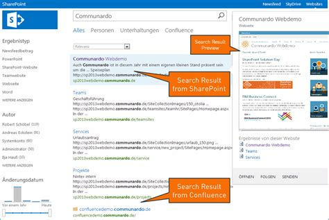 Sharepoint Search Overview Connector For Sharepoint Search Communardo Supportportal