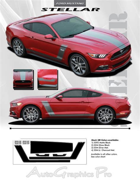 mustang stripes and decals 2015 2016 2017 ford mustang quot stellar quot factory oem