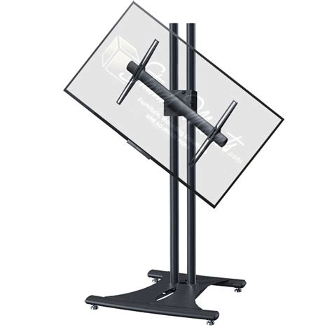 72 inch floor l premier mounts 72 inch black floor stand with rotating