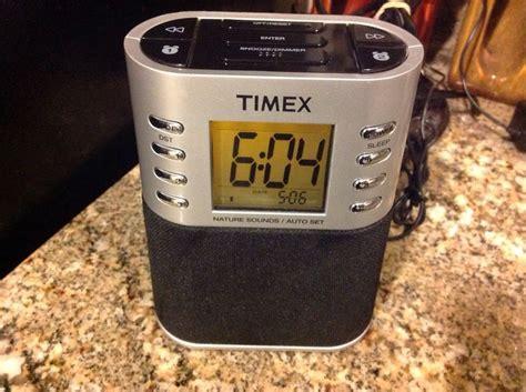Set Time Sw timex alarm clock radio t307s auto set am fm nature sounds mp3 dimmer sw digital clocks