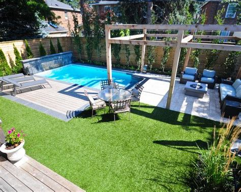 small backyard with pool piscinas para espa 231 os pequenos backyard small pools and
