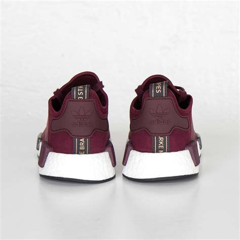 Adidas Nmd R1 Maroon Suede S75231 Authentic Original outlet store adidas originals nmd r1 runner boost w details pack maroon maroon solid grey s75231