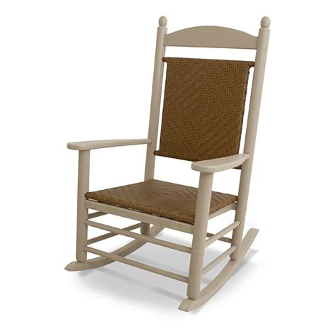 Adirondack Chairs Rochester Ny by Polywood Amish Outdoor Poly Lumbar Rocking Chair