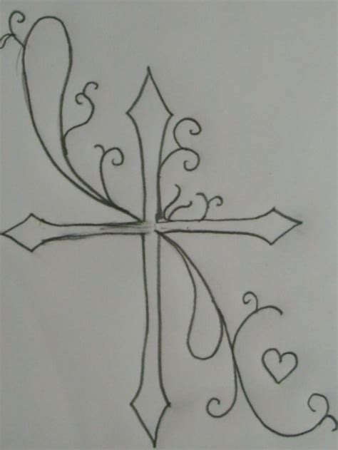 outline of cross tattoo 62 best images about tattoos on feminine easy