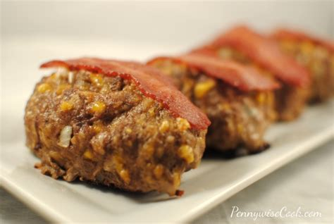 30345 bacon cheddar meatloaf jpg bacon cheddar mini meatloaves pennywise cook