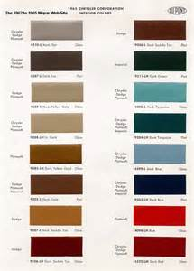 mopar colors 1965 mopar paint codes
