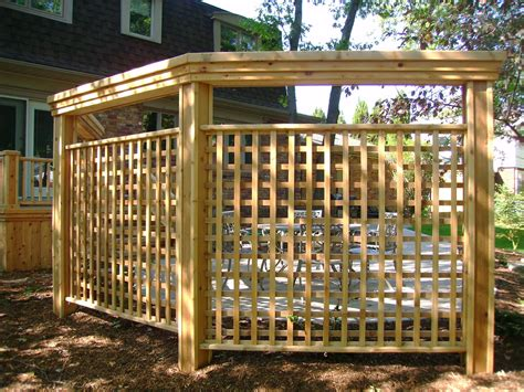 Privacy Fence Around Hot Tub Walls And Screens Pergola Privacy Fence