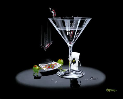 martini olive art 187 let the chips fall by michael godard limited edition
