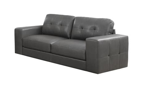 sofa with removable back modern design bonded leather match tufted sofa with