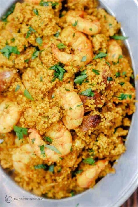 spicy couscous recipe  shrimp  chorizo