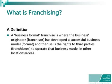 the franchise company presentation 100614