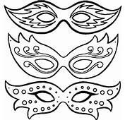 Imprimer Le Coloriage Masques De Carnaval Pour