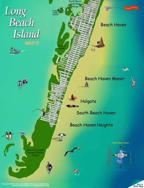 lbi map lbi make a yearly vacation rent house island